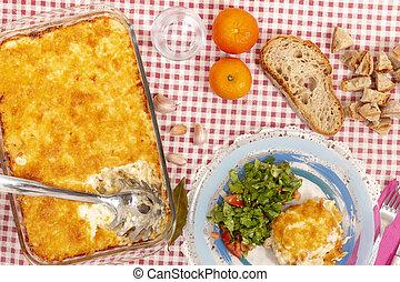 Cod fish with cream