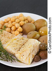 cod fish with vegetables