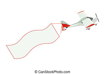 coda, bandiera, aeroplano, vuoto