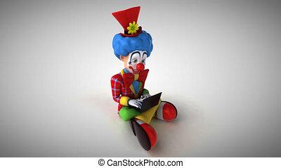codage, -, clown, animation, amusement, 3d