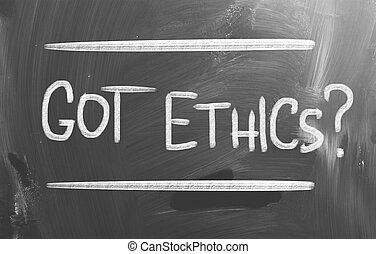 code, éthique, concept