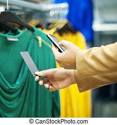 code, abtastung, einkaufszentrum, qr, shoppen
