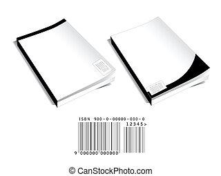 code, bar, boek, deksels