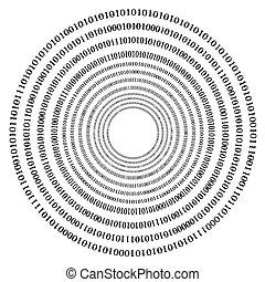 code binaire, arrière-plan.