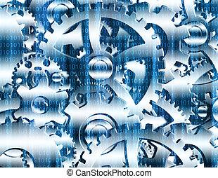 code binaire, engrenages