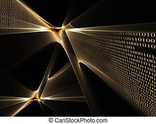 code binaire, flux données