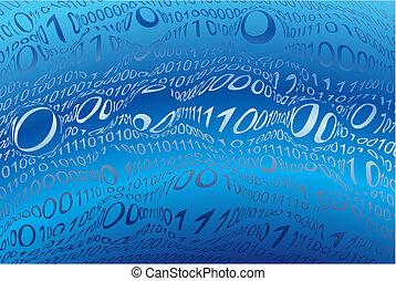 code binaire, fond, image, illustration, vecteur, gabarit, numérique, résumé
