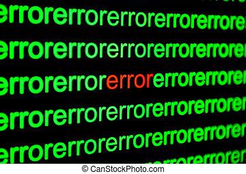 code binaire, haut, virus., informatique, infected, fin
