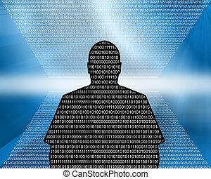 code binaire, -, homme