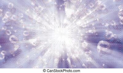code binaire, -, lumière
