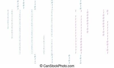 code binaire, matrice, ruisseler, crypto, space., arrière-plan., données, numérique