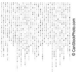 code binaire, ruisseau, vecteur, conception, fond, données