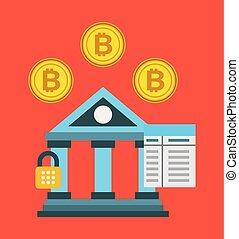 code, bitcoin, bankwezen, concept, veiligheid, wachtwoord