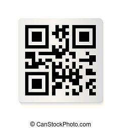 code, collection., autocollant, barcode, illustration, qr, vecteur