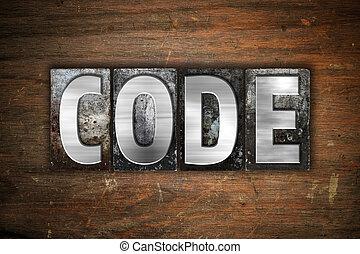 Code Concept Metal Letterpress Type