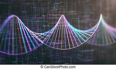code génétique, adn, coloré