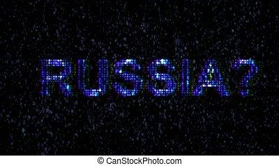code, hackers., danger, malveillant, russe, internet., hacker.