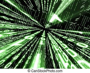 code, hintergrund, binärer
