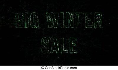 """code, hiver, sale"""", numérique, """"big, animation, texte, données, 3d"""