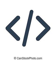 Code Icon on white background.