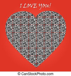 "code, liebe, text, symbol, ""i, you"", qr, heart."
