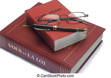 code, livres, légal, francais, penal