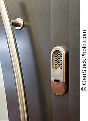 Code lock on a door