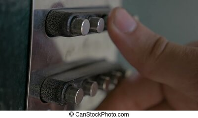code lock on the set buttons door slow motion video - code...