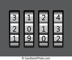 Code lock with number 2013  - Code lock with number 2013