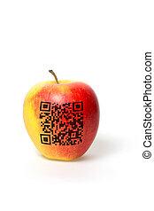 code, pomme, qr