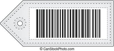 code prix, barre, étiquette