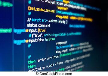 code, programmation, moderne, informatique