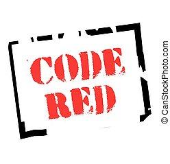 Code Red typographic stamp - Code Red. Typographic stamp...