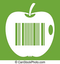 Code to represent product identification icon green - Code...