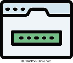 code vector colour line  icon