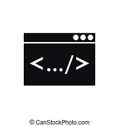 Code window icon, simple style