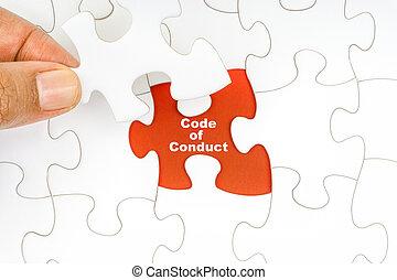 code, wort, puzzel, stichsaege, hand holding, verhalten, stück