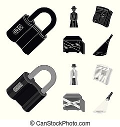 Coded lock, the appearance of the detective, a newspaper...