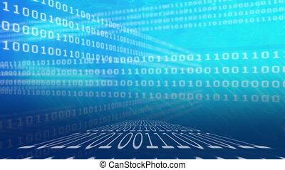 coderen, blauwe , binair, achtergrond