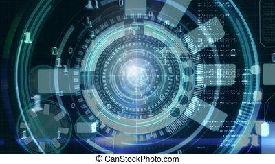 coderen, digitale , computer, 4k, interface, animatie, binair