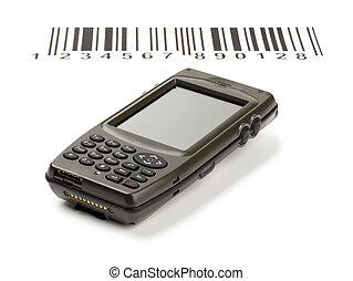 codes, barre, scanner, manuel, informatique, électronique