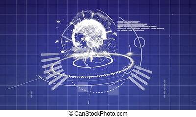 codes, digitale , globe, programma