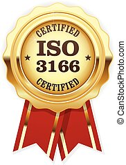 codes, rosette, pays, -, norme, iso, 3166