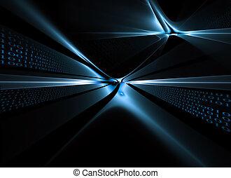 codice binario, flusso di dati, comunicazione