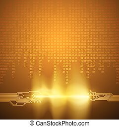 codice binario, flusso, struttura, asse, circuito
