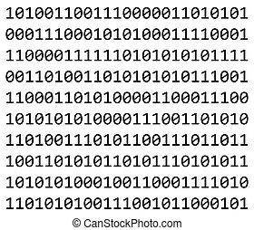 codice binario, simbolo, vettore, icona, design.