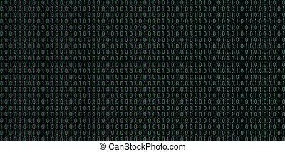 codice, binario, vettore, fondo
