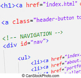 codice, html, css
