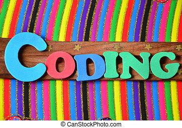 codificación, palabra