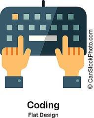 Coding Flat Icon